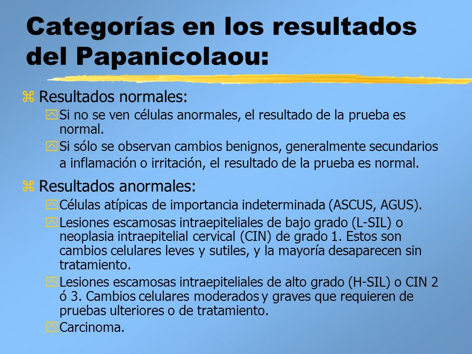 papanicolaou normal y anormal