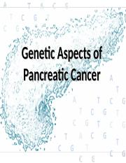pancreatic cancer ppt)