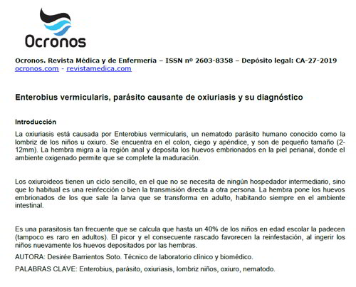 Enterobiasis diagnostico laboratorio. ENTEROBIUS VERMICULARIS nikvorm