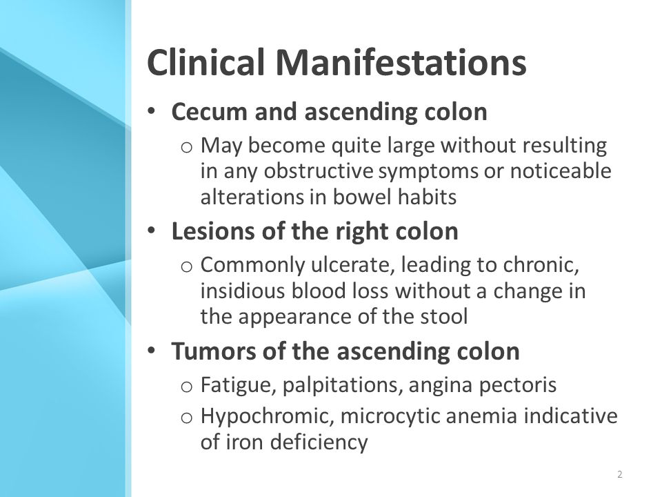 cancer colorectal manifestations)