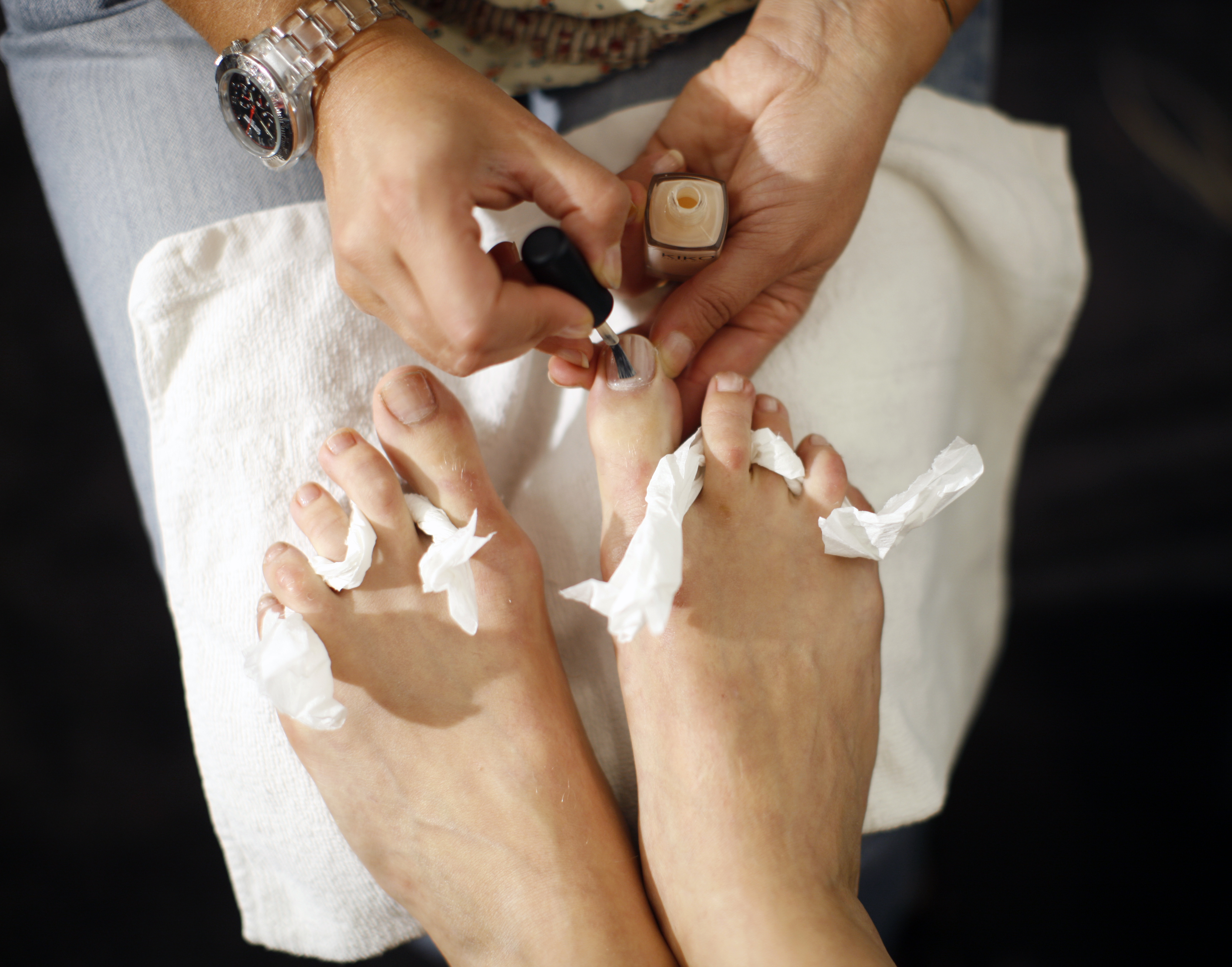 wart on foot and pedicure